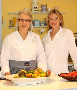 Darina and Rachel Allen at Ballymaloe Cookery School