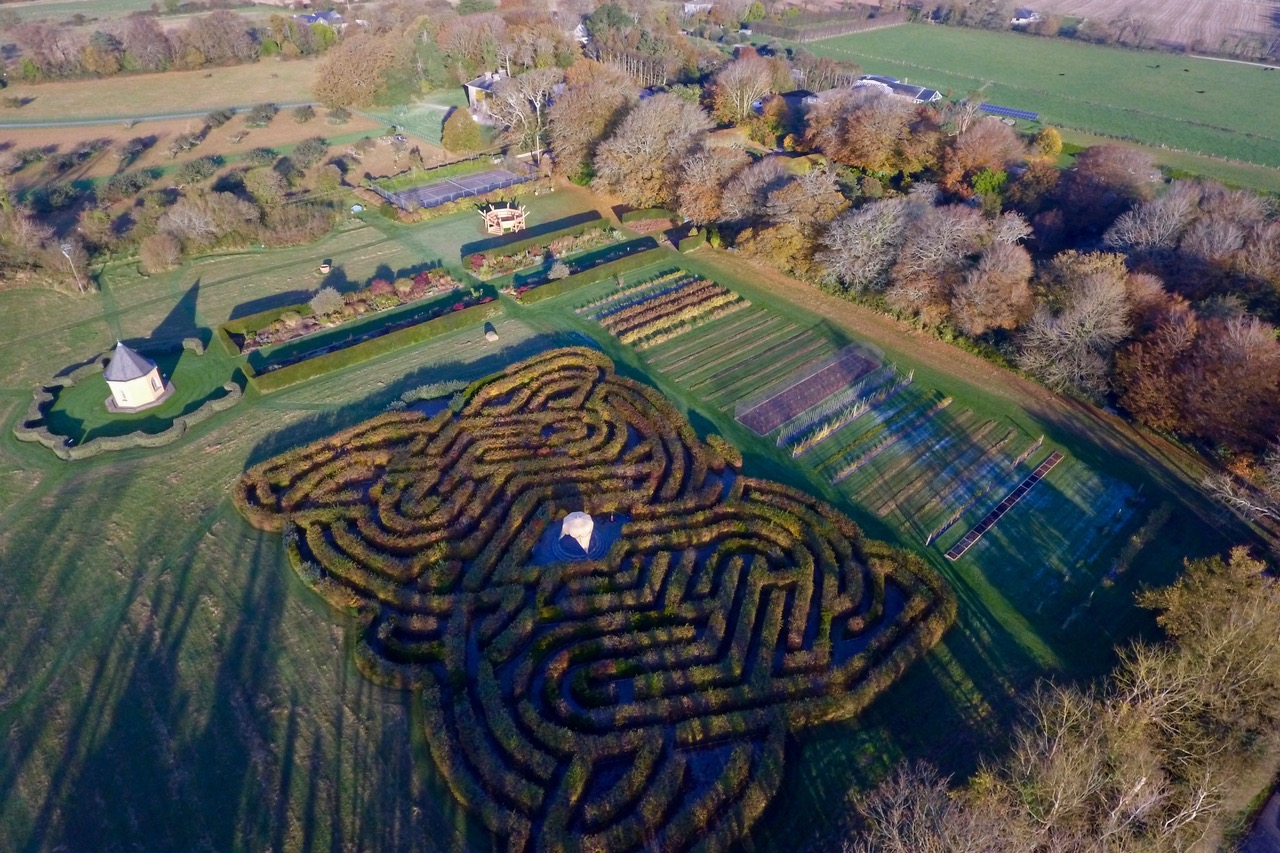 The Celtic Maze & Wildflower Meadow - Ballymaloe Cookery School