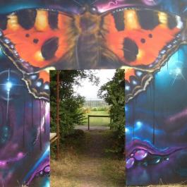 The Butterfly Doorway to the Glasshouses - Ballymaloe Cookery School