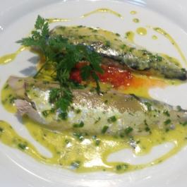 Pangrilled Mackerel with Green Gooseberry Sauce - Simply Delicious Food Fast - Ballymaloe Cookery School