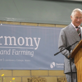 HRH The Prince of Wales speaks of his vision for harmony in food and farming.