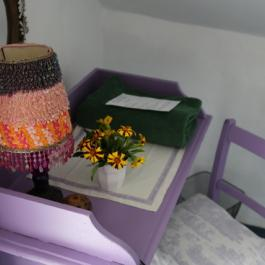 Writing desk in cottage bedroom at Ballymaloe Cookery School