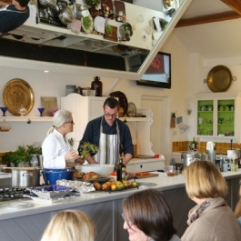 Jeremy Lee and Darina Allen at Ballymaloe Cookery School