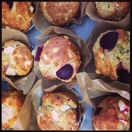 Beetroot and Feta Soda Muffin Scones
