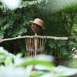 Scarecrow, The Potager Garden - Ballymaloe Cookery School