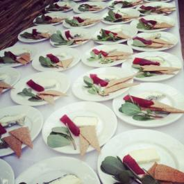 Long Table Dinner - Summer Purslane w/ Buttermilk Dressing & Roast Hazelnuts, Triskel Goats Cheese & Garden Plum Membrillo