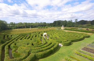 View of Ballymaloe Garden Celtic Maze